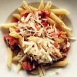 Pasta mit Pfifferlingen und Tomaten